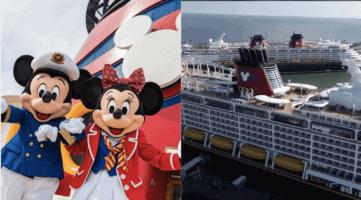 disney cruise ships docked together