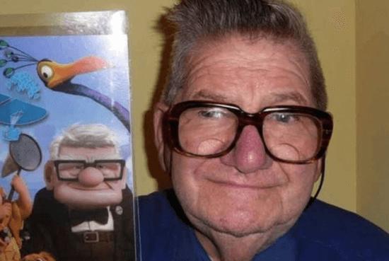 Disney's Up Carl lookalike