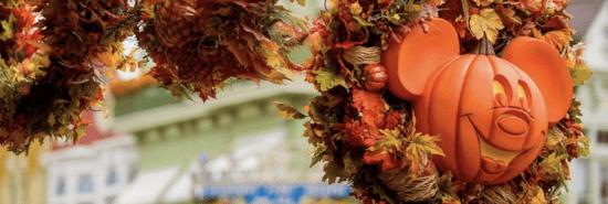 pumpkin mickey wreath disney parks
