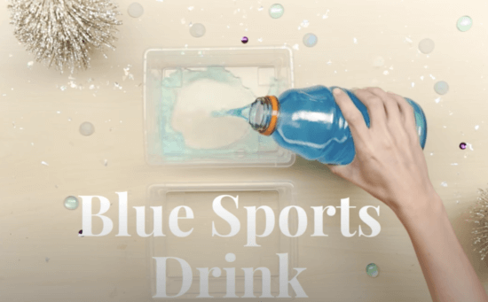 blue sports drink elsa popsicles