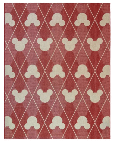 Mickey Mouse and Friends Argyle Outdoor Rug
