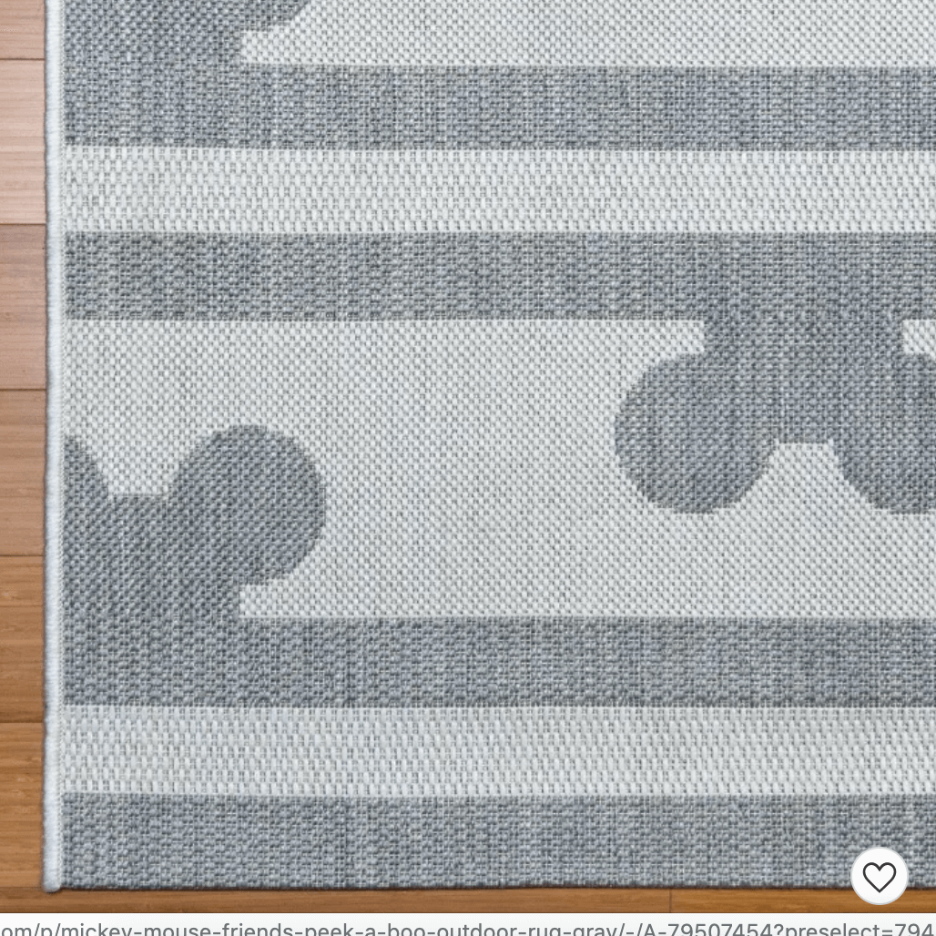 Mickey Mouse & Friends Peek A Boo Outdoor Rug