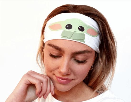 Baby Yoda Scrunch Headband