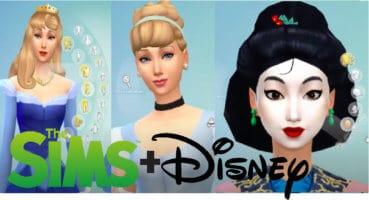 Cover photo of Disney Princesses as Sims.
