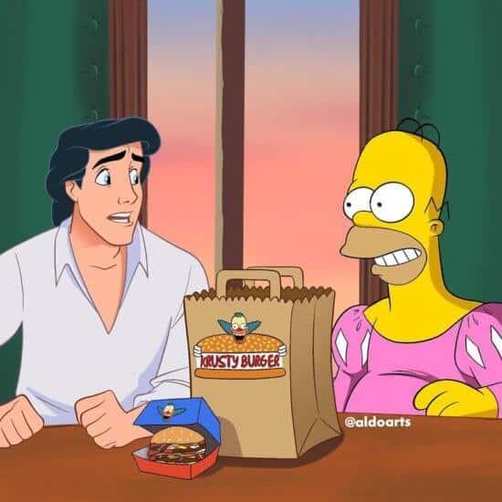Homer Simpson Krusty burger