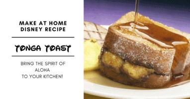 Disney's Tonga Toast Recipe