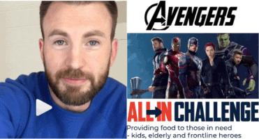 Chris Evans All in challenge Zoom Avengers