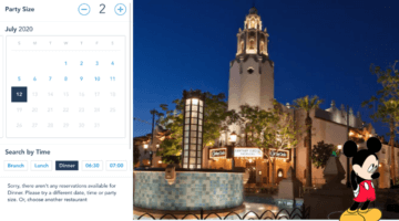 Disneyland Dining Reservations Removed