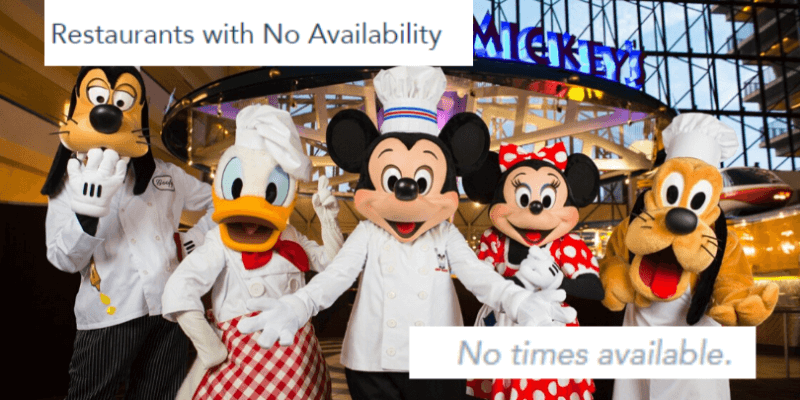 dining reservations unavailable