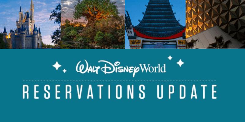 disney world reservations update