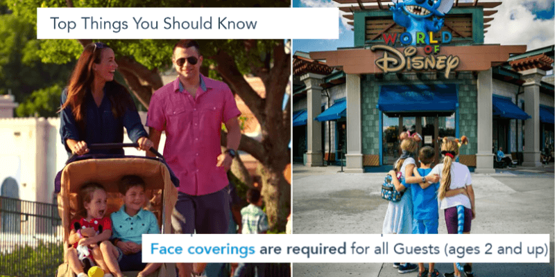 disney face coverings age requirement