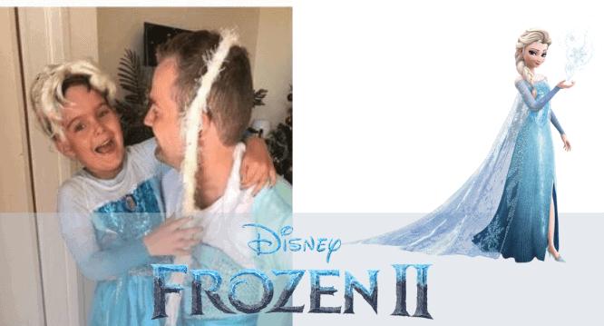 Frozen Dad and Son Elsa Dress