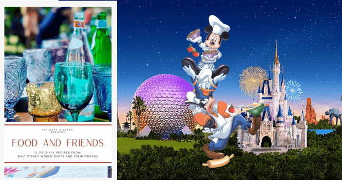 FOOD AND FRIENDS, 12 Original Recipes From Walt Disney World Chefs and their Friends a