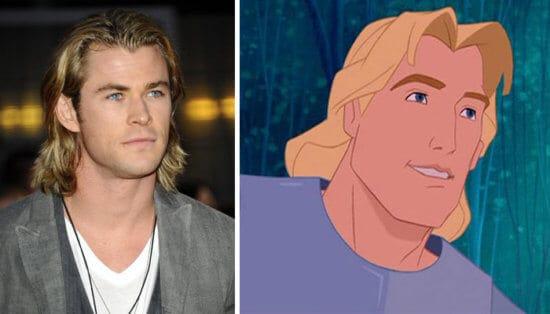 Thor as John Smith from Disney's Pocahontas