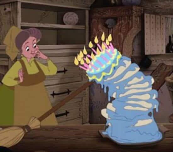 fauna baking aurora briar rose cake