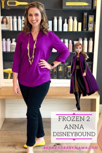 frozen 2 anna disneybound