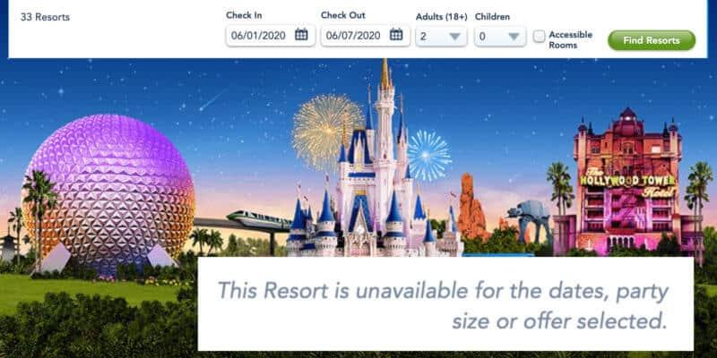 Disney World bookings