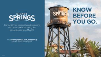 disney springs phased reopening guide