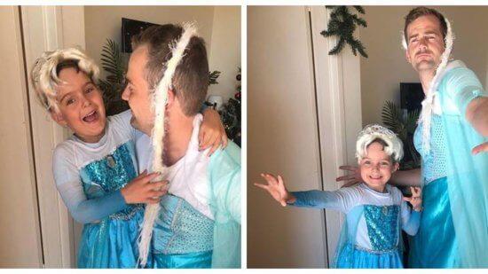 Frozen Dress Wearing Dad Scott Stuart