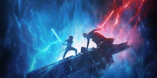 rise of skywalker lightsaber battle kylo ren and rey