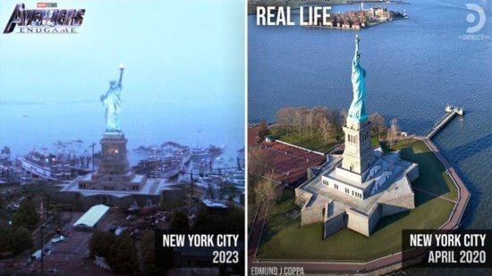Avengers Endgame snap photos versus reality