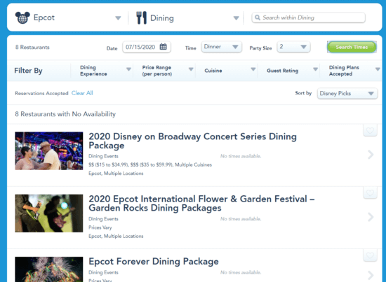 wdw website dining reservations 2
