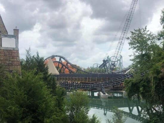 jurassic coaster universal orlando crane shot