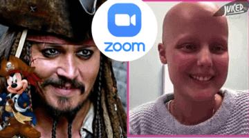 Johnny Depp virtual children's hospital visit