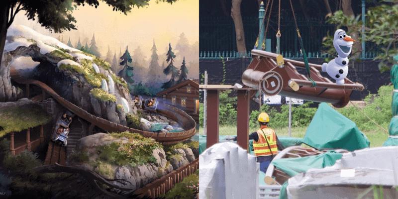 Hong Kong Disneyland Frozen Roller Coaster