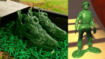 Green Army Men Sneakers