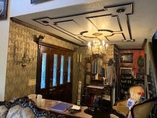 Haunted Mansion Themed Foyer Finished