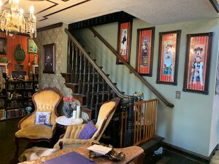 Haunted Mansion Themed Foyer Stairs