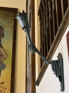 Haunted Mansion Themed Foyer Torch