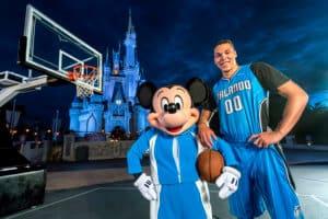 Mickey with Magic Basketball player