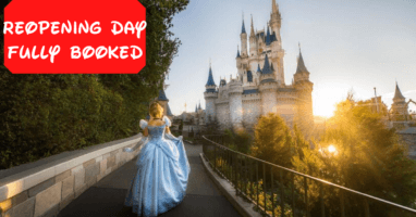 Magic Kingdom Reopening Fully Booked