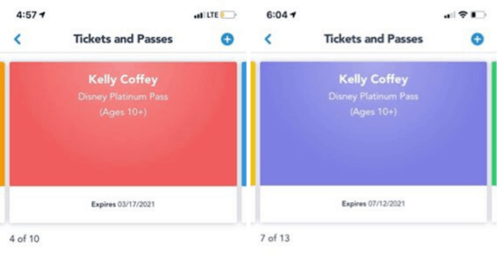 Before (left) and After (right) Annual Pass Expiration Date Update