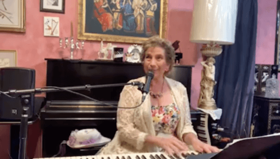 Carol Stein playing the piano