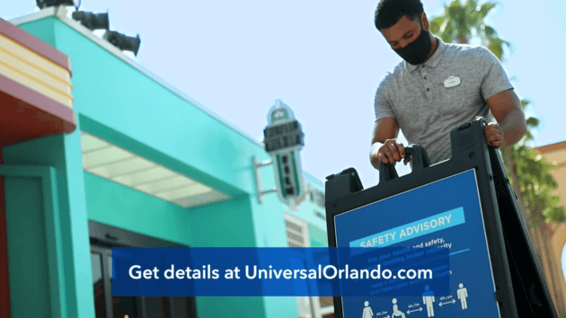 Universal Orlando team member prepares for reopening with new health and safety guidelines