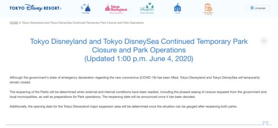 tokyo disney update