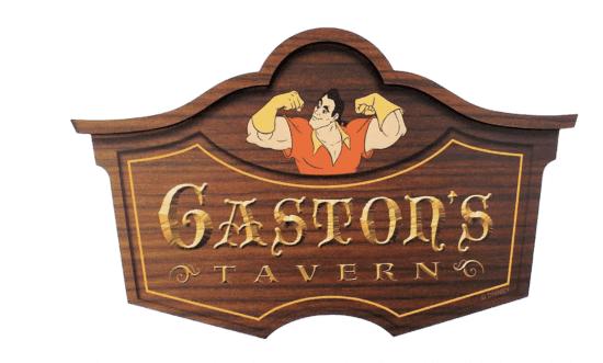 gaston's tavern replica sign
