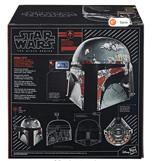 boba fett black series helmet box