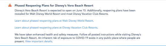 vero beach phased reopening