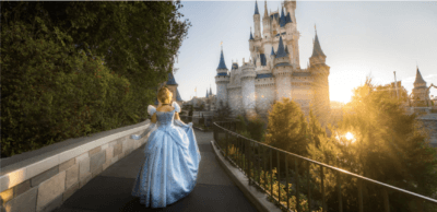 cinderella with castle wdw