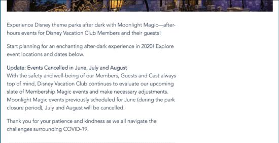 dvc moonlight magic cancellation update