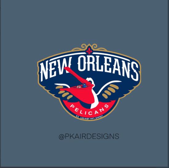 New Orleans Pelicans Disney Logo