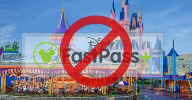 Cinderella Castle with Fastpass logo