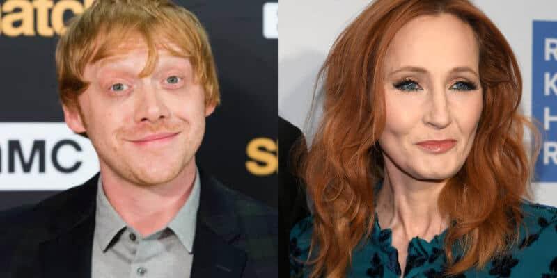 Rupert Grint and J.K. Rowling