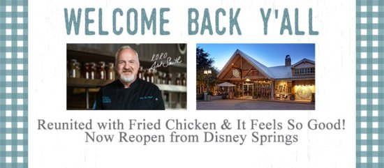 official welcome back chef art smith sign