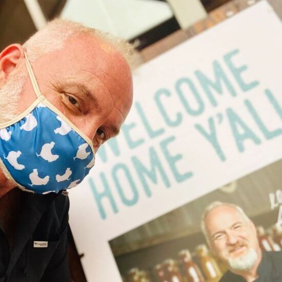 chef art smith wearing face mask at disney springs