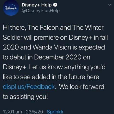 Disney+ confirmation.
